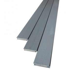 Plancher composite b fix gris 25 x 140 mm for Plancher exterieur composite